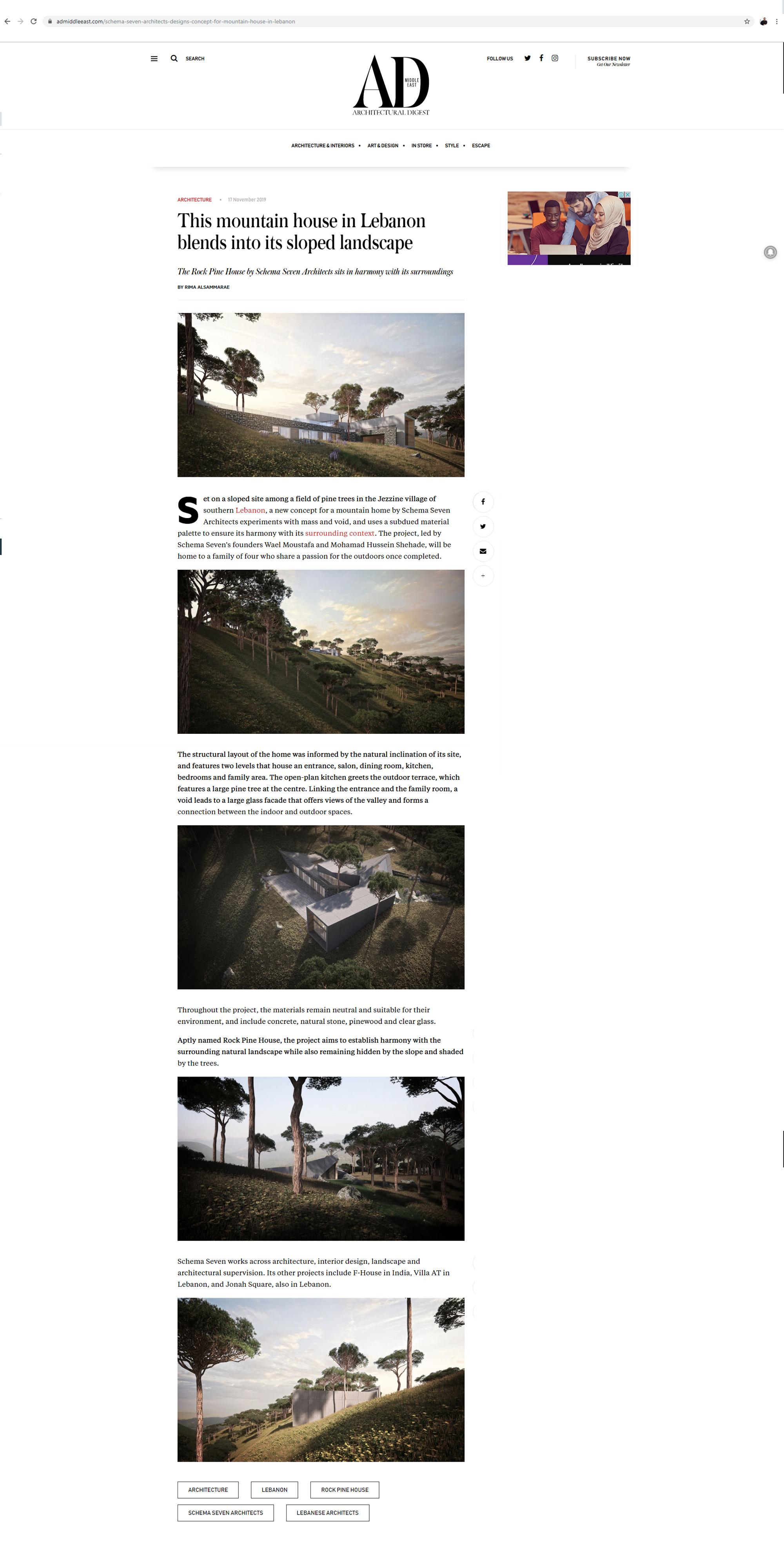 Architectural Digest Magazine Website